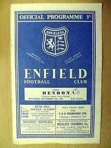 Athenian-League-Senior-Section-ENFIELD-v-HENDON-10-Sept-1960