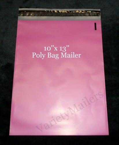 100 Pink Poly Bag Envelope Mailers 10x13 Self-Sealing Shipping Bags
