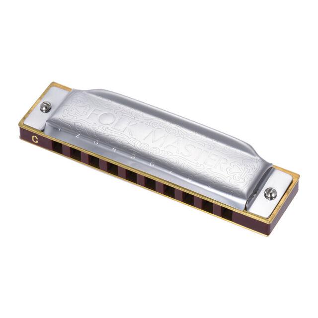 Suzuki Folkmaster Standard 10-Hole Diatonic Key of C 20 Tone for Beginner J7B8