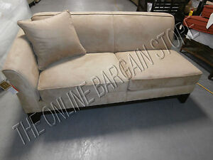 Details About Pottery Barn Greenwich Sofa Couch Sectional Loveseat Oat Everyday Suede New