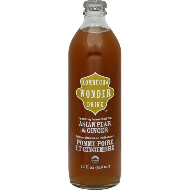 Kombucha Wonder Drink Sparkling Asian Pear & Ginger Tea - Case of 12 - 14  Fl oz