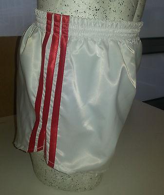 Black /& White Retro Nylon Satin Football Shorts S to 4XL