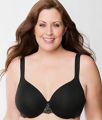 Honest Lane Bryant Cacique Cotton Lace Trim Full Coverage Bra Black Size 44ddd S265 Clothing, Shoes & Accessories