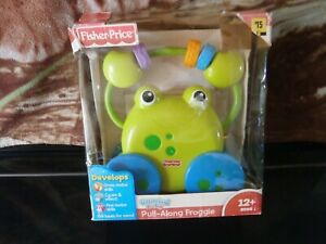 CLOSEOUT-SALE-Imported-From-USA-Fisher-Price-Pull-Along-Froggie-2