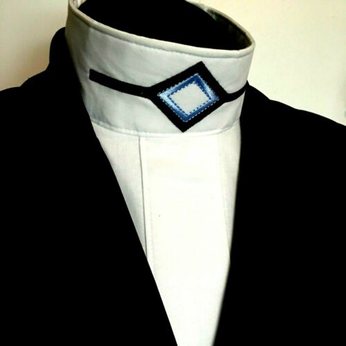 English Hunt Seat Ratcatcher White Show Bib Dickie With Collar Embellishment