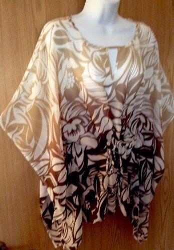 Lovely WALLIS beige mix patterned kaftan Kimono top size S Approx 8//1012//14