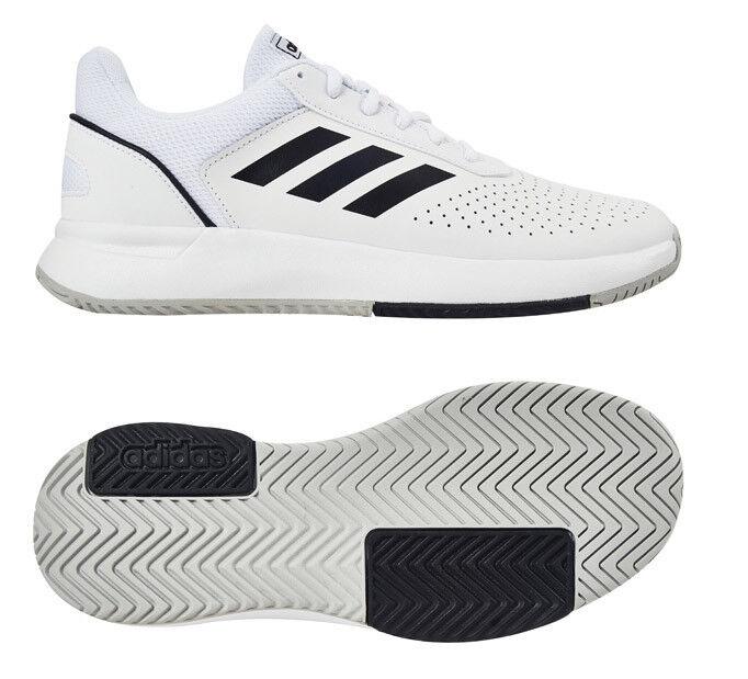 Adidas Court Smash Zapatos Tenis Hombre blancoo Negro Raqueta Raqueta nuevo con etiquetas F36718