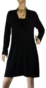 FEATHERS-SIZE-M-BLACK-TUNIC-STYLE-DRESS