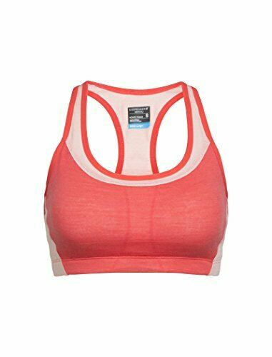 Icebreaker Merino Women/'s Meld Zone Sport Bra Poppy Red//Sorbet X-Small
