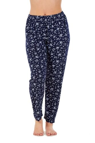 Ladies Floral Print Trousers Elasticated Summer Narrow Leg Harem Tapered Pants