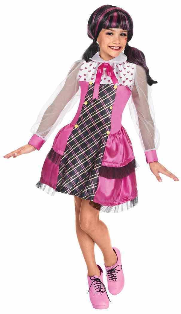 Monster High - Draculaura Vampire Monster High Mattel Nick Fancy Dress Halloween Child Costume