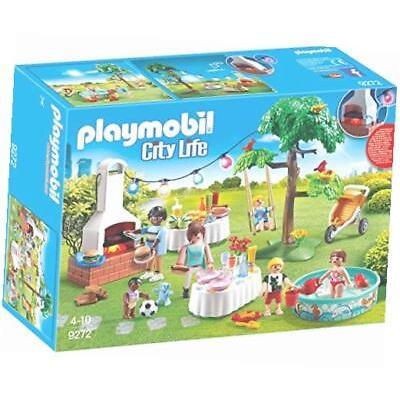 Playmobil Einweihungsparty City Life Puppenmöbel Gartenparty Buffet Kinderschau