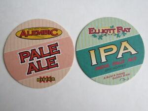 2 Bière dessous de Verre ~ Elliott Bay Brewery Hoppy Ipa & Blonde ~ Seattle- VxbHz2Jz-09165845-342689521