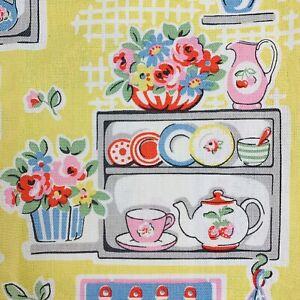 Cath Kidston Canvas Fabric Cute Kitchen Utensils Flowers