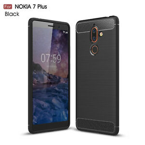 reputable site 6f610 ed6c7 Details about For Nokia 7 Plus Ultra thin Brushed Silicone Soft Rubber  Shockproof Case Cover