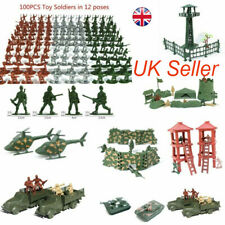Military Model Playset Toy Soldiers Army Men Figures 12 Poses Kids Toys