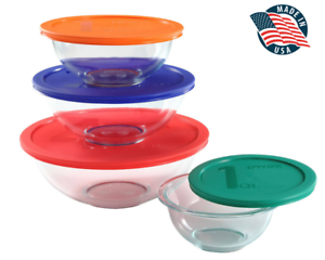 Pyrex-Smart-Essentials-8-pc-Mixing-Bowl-Set-FREE-Shipping-Brand-New