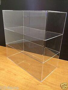 Acrylic-Counter-top-Display-Case-16-034-x-8-034-x-16-034-Show-Case-Cabinet-Shelves