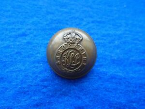 1901-1946-KINGS-SHROPSHIRE-LIGHT-INFANTRY-OFFICERS-25-5MM-BRASS-BUTTON-ARMFIELD