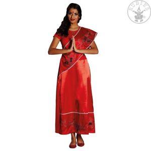 billiger elegantes und robustes Paket Ausverkauf Details zu RUB 13911 Inderin Damen Karneval Bollywood Kostüm Kleid Schärpe  rot 36 - 46
