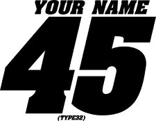 MOTORCYCLE NAMED NUMBER PLATE DECALS MOTOCROSS STICKERS MX ATV YZ RM SUPERBIKE