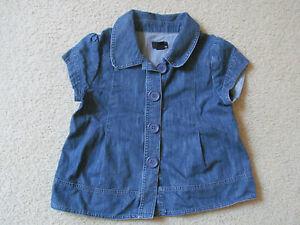 various colors 0c8c6 98381 Dettagli su DONNA H&M a Bottoni Blu Jeans Camicia/Maglia ( Manica Corta  Giacca) Taglia 6 in