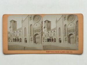 Cattedrale Santa Maria Assunta Da Como Italia Foto Stereo Vintage Albumina c187
