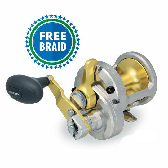 Shimano Talica 12  2 Speed With Free Braid color of Choice  just for you