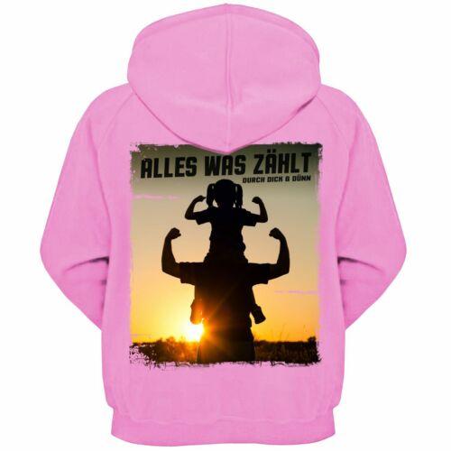Veste capuche famille père et fille tout ce qui importe Fête des Pères Cadeau tenue