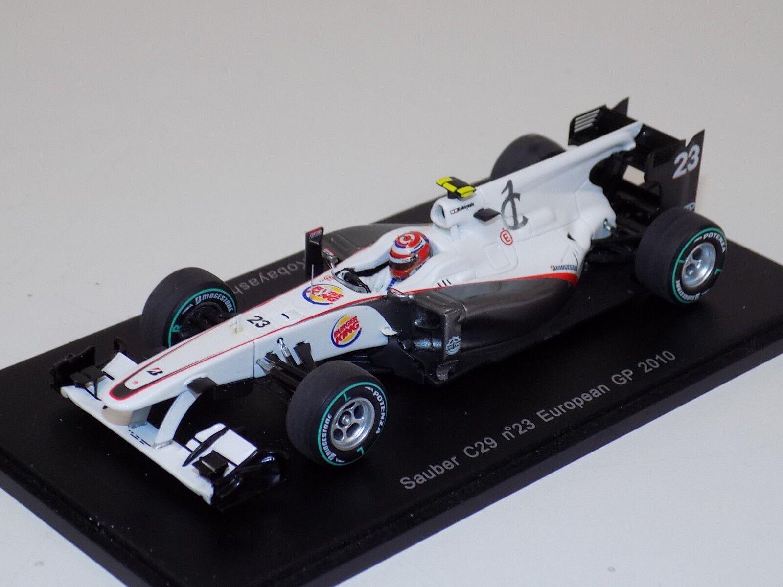 1 43 Spark Sauber C29 voiture  23 2010 Grand Prix d'Europe K. Kobayashi S3005