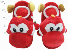 "Nintendo Super Mario Brothers Bros Red Yoshi Adult 11"" Soft Plush Slipper 1 Pair"