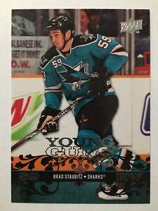 2008-09-Upper-Deck-Young-Guns-Rookie-491-Brad-Staubitz-YG-RC-San-Jose-Sharks