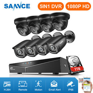 SANNCE-1080N-8CH-DVR-Outdoor-IR-Night-Vision-CCTV-Security-Camera-System-1TB-HDD