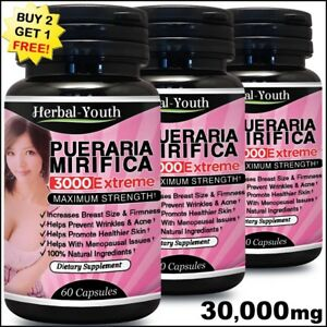 PUERARIA-MIRIFICA-30000mg-BREAST-ENLARGEMENT-BUST-FIRMING-CAPSULES-EXTRACT-PILLS