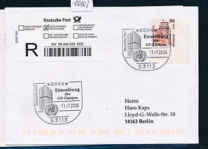 10103) Reco-lettre Ef 2,61 € Do. - Nom. Bg-coin Sst 2006 Bonn Hab. Onu-campus-afficher Le Titre D'origine RéTréCissable