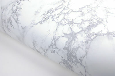 Matte White Grey Granite Marble Effect Counter Top Film Vinyl Self Adhesive