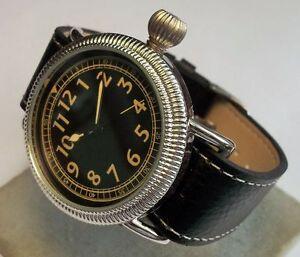 Repro-B-Uhr-Fliegeruhr-Reichsluftwaffe-Pfeilindex-Zentralsekunde-Wehrmacht-1930