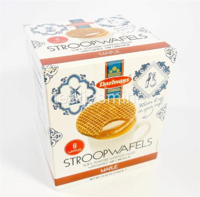 Daelmans Original Dutch Stroopwafels Wafers MAPLE & CINNAMON 10.94 Oz. Gift Box