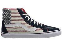 Vans Sk8-hi Mens Shoes (new) Sizes 7-13 Hi Top Americana Usa Flag America Merica