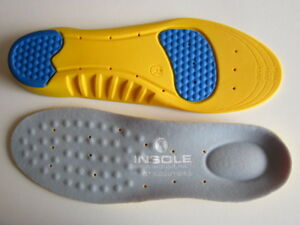 Ladies-Yellow-Memory-Dual-Pad-Anti-Fatigue-Shock-Absorption-Arch-support-Insoles