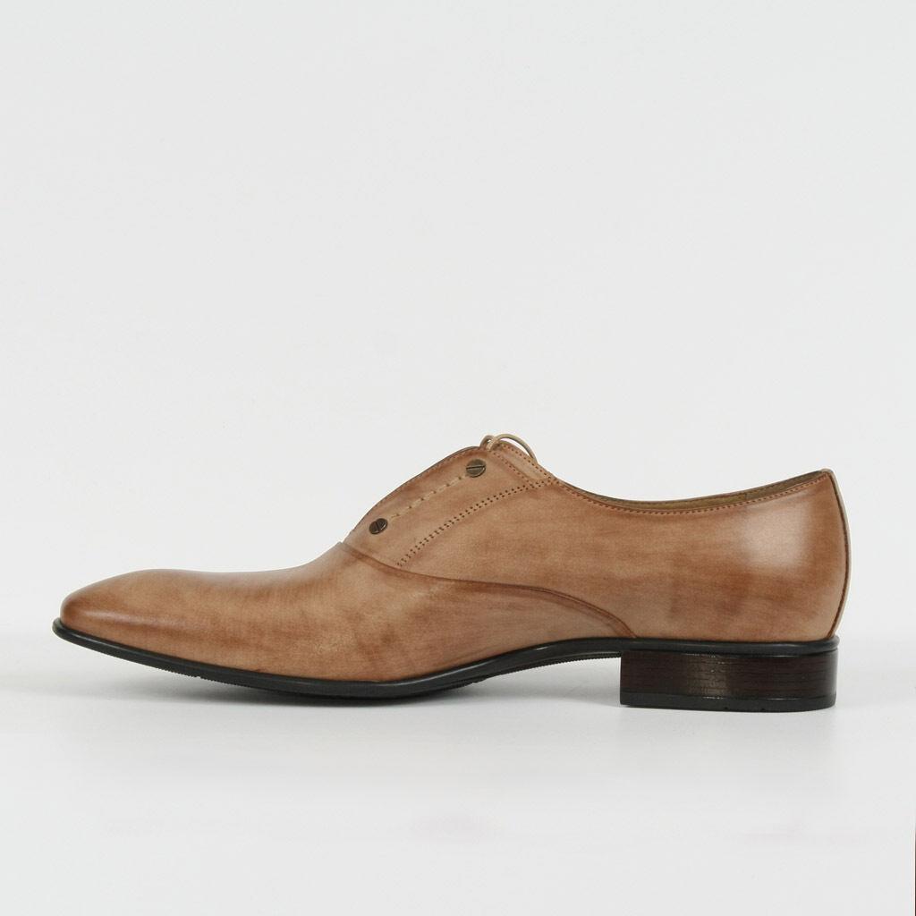 Herren Leder Halbschuhe  Schnürer Braun Business Neu 42 Schuhe