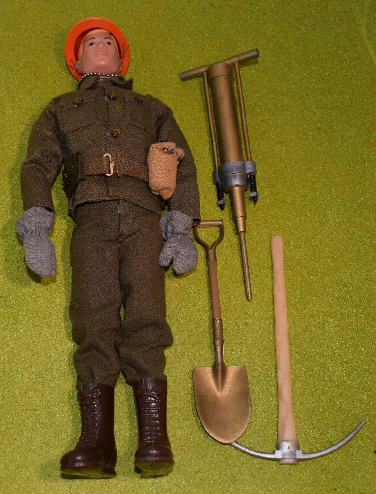Original VINTAGE Acción MAN Pintado De Pelo soldado básico - 426