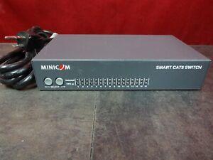 Details about MINICOM Smart CAT5 16 Port Switch 1SU22082/R