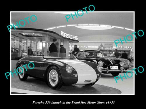 OLD 8x6 HISTORIC PHOTO OF 1953 PORSCHE 356 FRANKFURT MOTOR SHOW DISPLAY 1