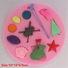 Sports Golf Silicone Cake Mould Fondant Sugar Craft Chocolate Decorate Tool