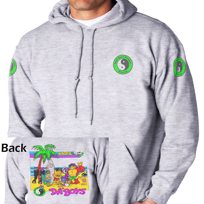 T&C,Town and Country Hawaii  Da Boys  Ash Grey,HOODIE,ALL SIZES,T-1051AshHOOD
