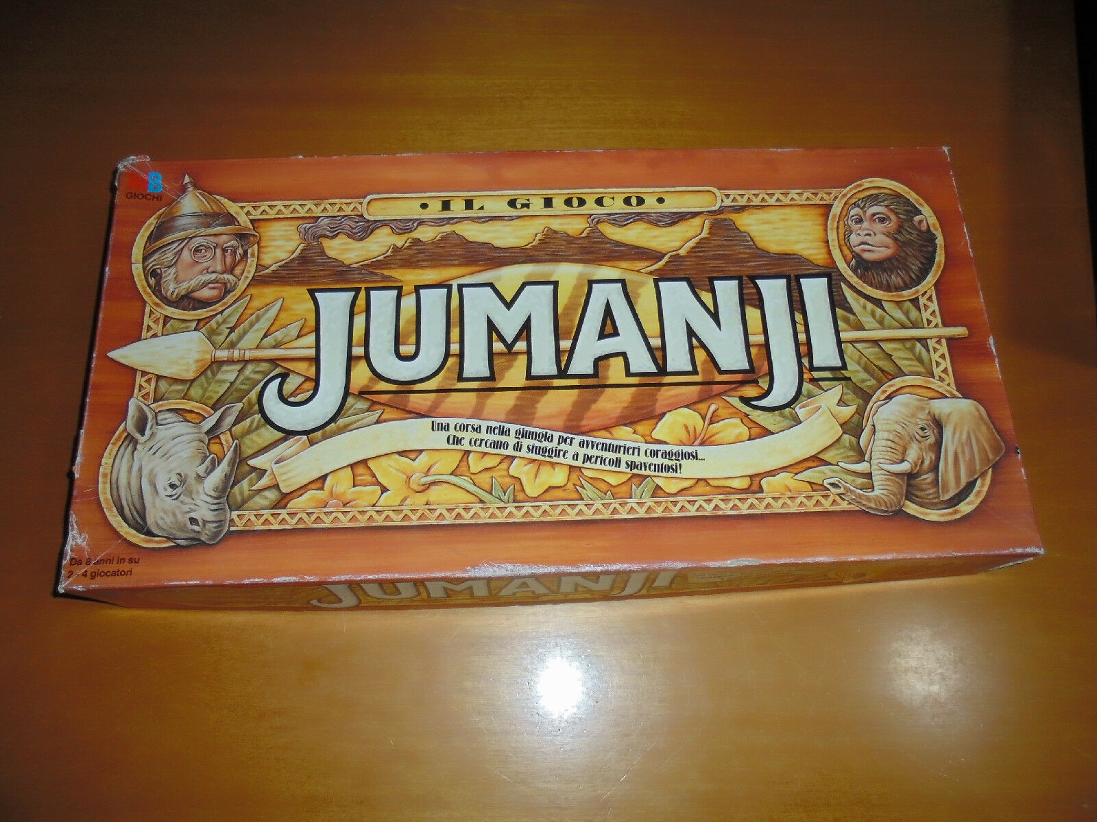 JUMANJI MB ITALIANO COMPLETO RARITÀ R8 VINTAGE 1995 NO HEROQUEST ROBIN WILLIAMS