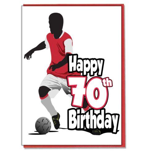 Mens Son Grandson Husband Friend Mate Football Silhouette 70th Birthday Card