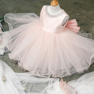 16a7a2e11978 Infant Baby Girl Birthday Wedding Baptism Christening Party Gown ...
