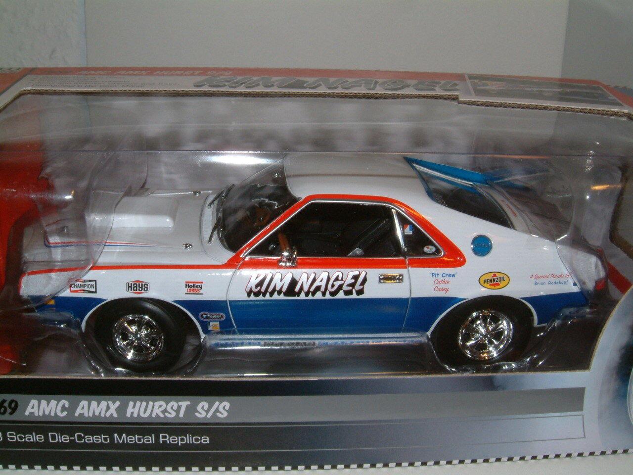 1 18 1969 AMC AMX Hurst Hurst Hurst ss  Kim Nagel 'super almacenamiento Arrastre coche, Autoworld. 25fc94